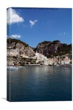 Amalfi Morning With Angel, Canvas Print