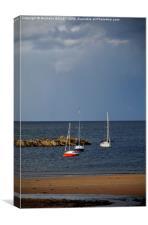 Beach Parking, Canvas Print