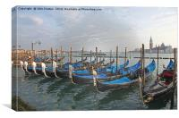 Gondolas at Venice, Canvas Print