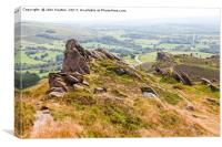 Ramshaw Rocks The Roaches Staffordshire, Canvas Print