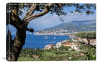 A view over the town of Sorrento towards the Bay o, Canvas Print