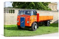 An ERF C 15 dropside lorry, truck or commercial ve, Canvas Print