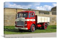 1956 Leyland Comet in the livery of B.W.Thomas reg, Canvas Print