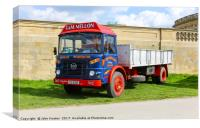 A 1976 or 1977 Seddon 13-4 lorry, truck or commerc, Canvas Print
