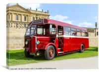 A 1946 AEC Regal bus or coach in the livery of Val, Canvas Print