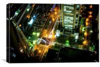 Yokohama crosswalk, Canvas Print
