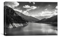 Kurobe lake, Canvas Print
