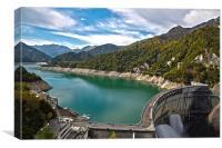 Kurobe Dam, Canvas Print