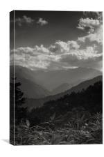 Japanese landscape, Canvas Print