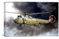 Royal Navy Westland Sea King HC.4  ZA298, Canvas Print