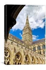 Salisbury Cathedral, Wiltshire, United Kingdom, Canvas Print