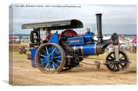 1913 Aveling & Porter Class BS Steam Roller, Canvas Print
