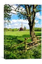Salisbury Cathedral, Wiltshire, United Kingdom, Canvas Print