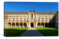 St Johns College, Canterbury Quadrangle, Oxford, Canvas Print