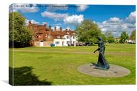 Walking Madonna Sculpture Salisbury, Canvas Print