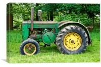 A Vintage John Deere Tractor, Canvas Print