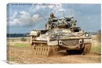 British Army Warrior Infantry Fighting Vehicle, Canvas Print
