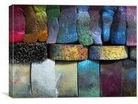 Multicolored sponges, Canvas Print