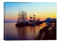 Tall Ships festival at sunrise, Canvas Print