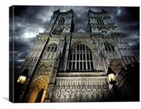Westminster Abbey at night, Canvas Print