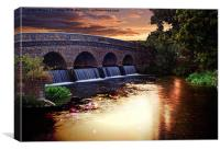 Sunset over the arches in Kent, Canvas Print