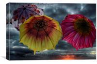 Flight of the umbrellas , Canvas Print