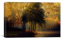 Golden Morning in Kent, Canvas Print