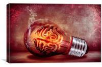 Brain in a Light bulb , Canvas Print