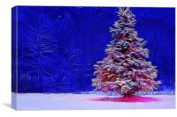 Happy christmas tree, Canvas Print