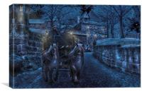 A winters night , Canvas Print