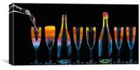 Happy New Year toast with champagne , Canvas Print