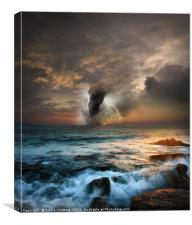 Tornado at sea, Canvas Print
