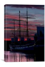 The Tall Ship Glenlee, Glasgow 2014, Canvas Print