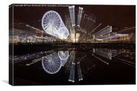 Liverpool One Zoomed at Night, Canvas Print