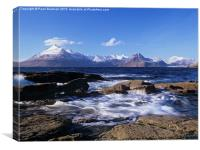Snow-capped Cuillin Hills, Canvas Print