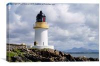 Port Charlotte Lighthouse Islay, Canvas Print