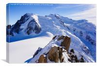 Mont Blanc Massif, Canvas Print