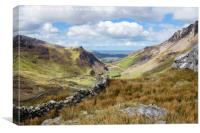 View Down Nantlle Valley Wales, Canvas Print