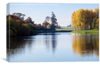 Tranquil Tweed in Autumn, Canvas Print