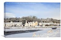Snow in Red Wharf Bay Harbour, Canvas Print
