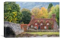 Tu Hwnt I'r Bont in Autumn, Canvas Print