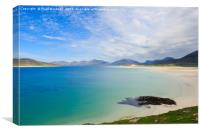 Sheileboist and Sound of Taransay Isle of Harris, Canvas Print