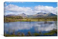 Glaslyn Valley Snowdonia, Canvas Print