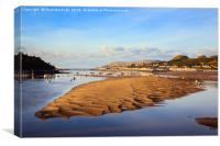 Afon Conwy River at Low Tide, Canvas Print