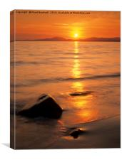 Tremadog Bay Sunset, Canvas Print
