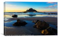 mounts bay sunrise, Canvas Print