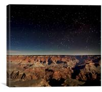 Grand Canyon at Night, Canvas Print