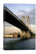 New York Williamsburg Bridge, Canvas Print