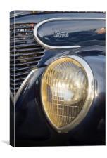 Vintage Ford Car Headlight, Canvas Print
