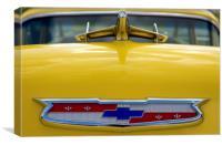 Classic Chevrolet Car Hood Ornament, Canvas Print